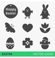 Easter signs web icons vector image