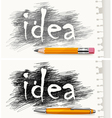 pencils pen concept drawn idea v vector image