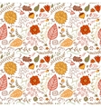 Autumn floral seamless background vector image