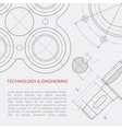 Engineering concept with part of machinery vector image vector image