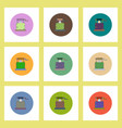 flat icons halloween set of well and ghost concept vector image