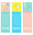 collection of colorful banners back to school vector image
