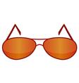 glasses red 1 v vector image vector image