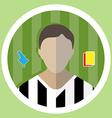 Soccer Referee Icon vector image