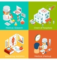 Set of medical care concepts vector image