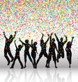 party people on confetti background 0709 vector image