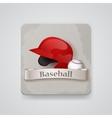 Baseball helmet and baseball icon vector image