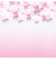 Greeting card with Japanese cherry 3d sakura vector image