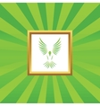 Flying bird picture icon vector image