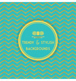 Golden and aqua trendy and stylish pattern vector image