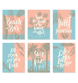 Set of vacation and summer holidays posters vector image vector image