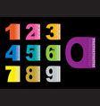 Copy space numbers vector image vector image