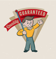 Retro vintage guarantee label vector image