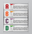 Tab Graphic Modern Template Style vector image