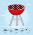 Barbecue grill family summer picnic vector image
