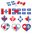 Canada and Quebec vector image
