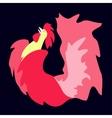 Fiery cock 2017 vector image