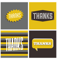 retro design thank you greeting cards vector image