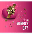 8 march holiday pink background vector image