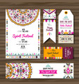 collection of banners flyers or invitations with vector image