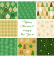 Christmas patterns collection 4 vector image