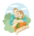 mom and son vector image vector image