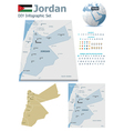 Jordan maps with markers vector image vector image