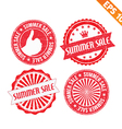 Stamp sticker summer sale collection - - EP vector image