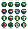 soccer flag shirt icons vector image