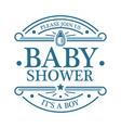 Baby Shower Boy Emblem vector image vector image