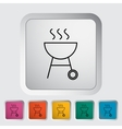 BBQ icon vector image vector image