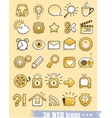 web and media icons vector image