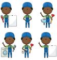 African-American plumber vector image
