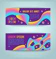 abstract rainbow lines vector image
