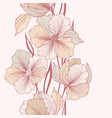 floral background flower greeting card flourish vector image