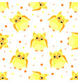 funny yellow-colored owls with scew eyes vector image