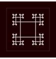 Geometric fractal frame vector image