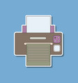 paper sticker on background of printer vector image