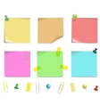 sticky note paper vector image