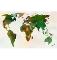 World map - Forest green camouflage pattern vector image