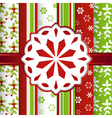 Christmas scrap book background with snowflake vector image