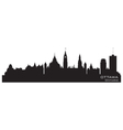 Ottawa Canada skyline Detailed silhouette vector image vector image