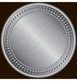 Silver blank medal vector image