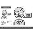 Professor line icon vector image