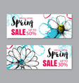 spring sale banner template with colorful vector image
