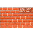 realistic texture of orange brick wall vector image