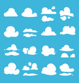 different clouds in cartoon style vector image vector image