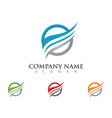 fire flame logo template icon oil gas and energy vector image