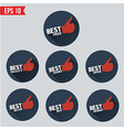 Best badge tag long shadow design - - EPS10 vector image