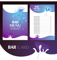menu bar card vector image vector image